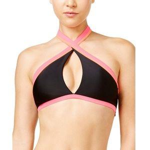 NWT Bikini Nation Block and Roll Halter Bikini Top